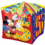 "15"" Mickey Mouse Age 5 Cubez Foil Balloon"